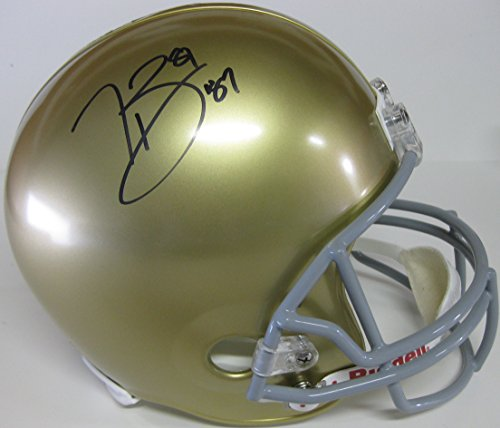 Tim Brown (Notre Dame) Signed Autographed Mini Helmet (PSA/DNA COA)