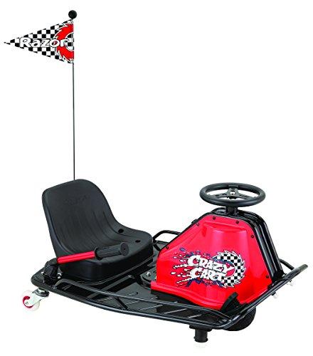 Razor 2014 Model Crazy Cart 2014-Carrito de Golf, Color Negro y Rojo