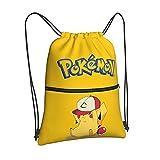 Anime Poke mon Gym Drawstring Backpack for...