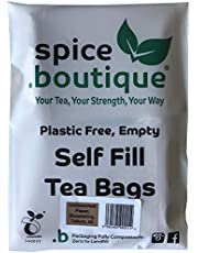 Natural y autollena bolsas de té, spice.boutique. Ideal para té de hierbas y tés de hojas sueltas. Sobres de filtro del papel (One Pot (50 bolsas de té, 9x7cm)).