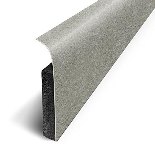3M - Plinthes Adhésives (lot de 5) - Béton Argentl - Long.120 cm x Haut.7 cm x Ep. 1.1cm (Ref: D180527D)