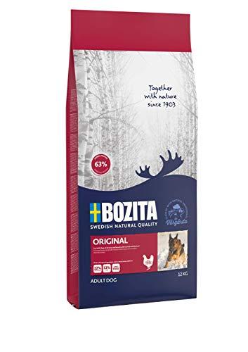 BOZITA Original Hundefutter - 12 kg - nachhaltig produziertes Trockenfutter für erwachsene Hunde - Alleinfuttermittel