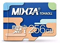 Professional 256GB MicroSDXC Certified for Motorola Razr (2019) by MIXZA is Pro-Speed, Heat & Cold Resistant, and Built for Lifetime of Constant Use! (UHS-3/3.0/V30/80MB/s)