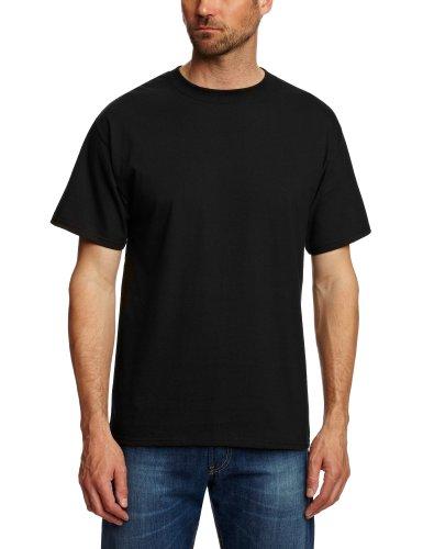 Hanes USA Beefy-T T-shirt Uni Crew Manches courtes Homme - Noir - Noir - FR: X-Large (Taille fabricant: X-Large)