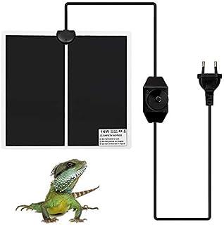 COMTERVI Reptil mata grzewcza, terrarium, ogrzewanie, gofry, poduszka grzewcza, dla gadów, 14 W, 28 x 28 cm