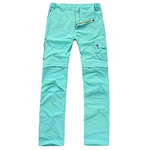 BBYaKi Mme Sports De Plein Air Et De Loisirs Ciel Pantalon Détachable Bleu/Vert Armée/Kaki/Or Rouge, XXL