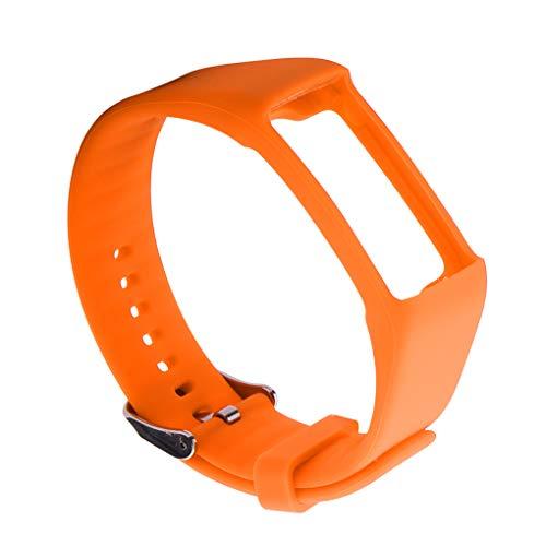 wanzhaofeng Compatible con A360 A370 Inteligente Reloj de Pulsera Correa de Pulsera de Correa de Reloj Pulsera de la Correa, Accesorios Inteligentes Reloj, Naranja