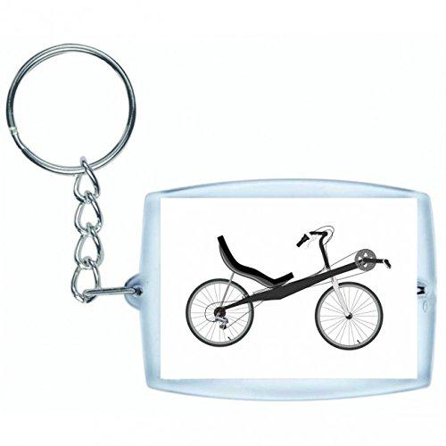 Druckerlebnis24 Schlüsselanhänger - Fahrrad- Liegerad- Chaise Lounge- Transport- Fahrzeug- Radfahren - Keyring - Taschenanhänger - Schlüsselring
