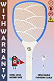 Weird Wolf Wide Range Mosquito Killer Racket Bat with Warranty and Powerful Battery(Multicolour)