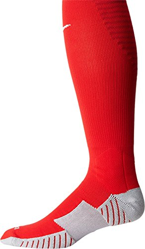 Nike Unisex erwachsene Matchfit Cushioned Sockenstutzen, Rot (Rot/Weiß/657), S (34-38 EU)