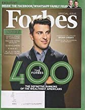 Forbes Magazine (October 31, 2018) The Forbes 400 Brian Chesky Airbnb CEO Cover