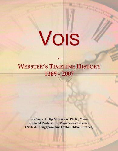 Vois: Webster's Timeline History, 1369 - 2007