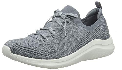 Skechers Ultra Flex 2.0, Zapatillas Mujer, Multicolor (GRY Black Knit Mesh/Trim), 38 EU