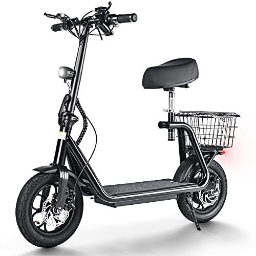 """Patinete elétrico 500W, 45km/h Autonomía ilimitada hasta 40 km, Neumáticos de 12"""", Batería 11Ah 48V Scooter Eléctrico Plegable para Adultos con Doble Sistema de Frenado"""