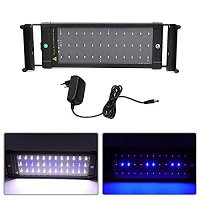 SolarNovo LED Aquarium BeleuchtungAufsetzleuchte IP64 Abdeckung LED Lampe AufsetzleuchteAbdeckungKlemmleuchte Clip Lampe für 30-136cm Aquarium