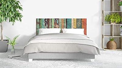 Cabecero fabricado en PVC espumado con impresión directa UVI. Decoración de habitaciones Cabecero ecónomico ideal para decoración de habitaciones Fácil colocación, resistente, ligero, aislante y de larga durabilidad Medidas: 150 cm de largo x 60 cm d...