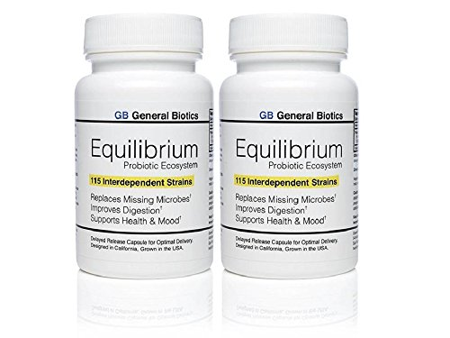 Equilibrium Probiotic Probiotica Supplement with Prebiotic - Daily Time Release - 30 Easy To Swallow Capsules - Highest Strain Count In The World - 115-Strains (2)