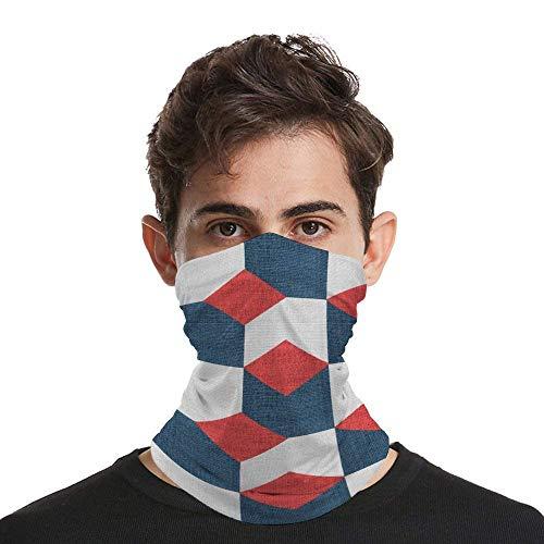LOSAYM Textura patrón geométrico tela personalizada multifuncional sin costuras pañuelos pasamontañas bufanda sombreros diadema para hombres mujeres