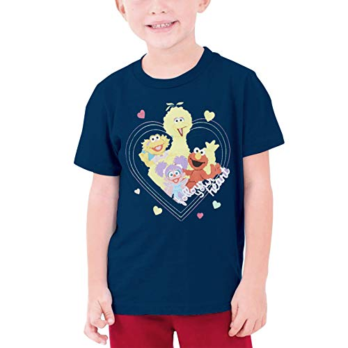 LEO Unisex Kids T-Shirt for Boys Girls 3D Printed Sesame Street Graphic Short Sleeve Teeteenage T-Shirt XL
