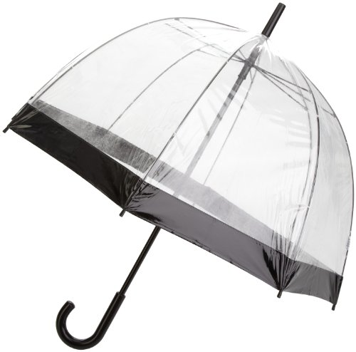 Totes PVC Dome Umbrella with Black B