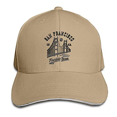 485 Gorra De Béisbol Puente Golden Gate De San Francisco Luna Gorra De Camionero Clásica Sombrero Deportivo para Golf Mujer Viaje