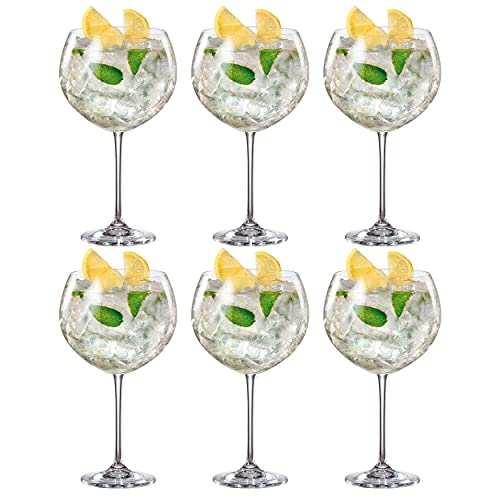 Bohemia Crystalite Enebro Gin Cocktail Glasses 30oz / 850ml - Case of 6 - Large Gin Balloon Glasses