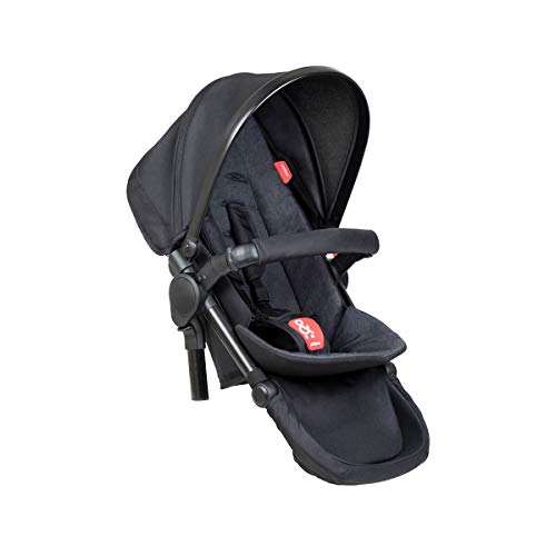 Phil&teds double kit™/Zweitsitz passt für Kinderwagen Dot, Sport, Dash, Voyager V6 2019+ mit Sitzauflage in der Farbe black
