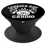 Scheiss auf Cardio Geschenk für Kraftsportler Bodybuilder - PopSockets Ausziehbarer Sockel und...