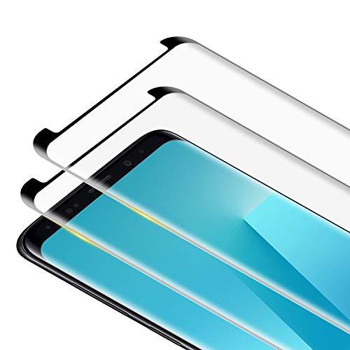RIIMUHIR [2 pezzi] Pellicola protettiva in vetro temperato per Samsung Galaxy S8 Plus, durezza 9H, bordo rotondo 3D, anti-bolle, antigraffio