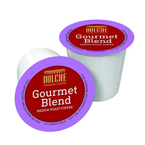 Dolche Premium Coffee, Gourmet-Mischung, American Kaffee Kapseln, kompatibel Keurig K-cup 2.0, Box 96 Kapseln