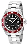 Invicta Men's Pro Diver 43mm Stainless Steel Quartz Watch, Silver/Red (Model: 22020)