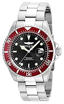 Invicta Men s Pro Diver 43mm Stainless Steel Quartz Watch Silver/Red  Model  22020