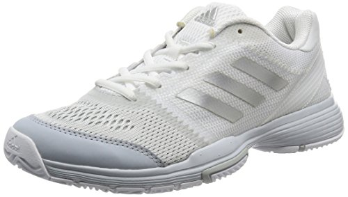 adidas Barricade Club, Zapatillas de Tenis para Mujer, Blanco (FTWR Whitesilver Metalliccore Pink), 36 2/3 EU