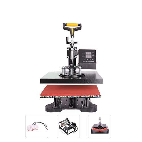 CO-Z 110V 5 in 1 Heat Press 360 Degree Swivel Heat Press Machine Multifunction Sublimation Combo T...