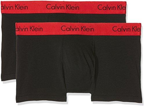 Calvin Klein Herren Trunk 2PK Hipster, Schwarz (Black W Impact Wb Ixy), Medium (2er Pack)