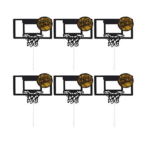 PRETYZOOM Basketball Kuchen Topper Glitter Film Backen Kuchen Picks Cup Kuchen Dekor für Thema Party Geburtstag nach Hause 20Pcs