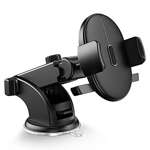 Soporte magnético para teléfono de coche con rotación de 360 ° para salpicadero, soporte para teléfono celular, compatible con iPhone, Samsung y otros smartphones