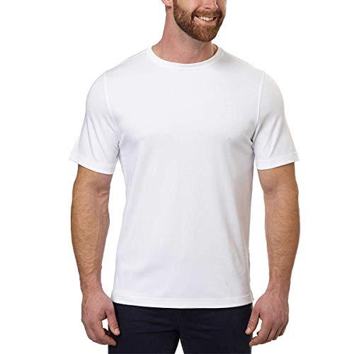 KIRKLAND SIGNATURE Men's 100% Cotton Classic Fit Tee (XL, White)