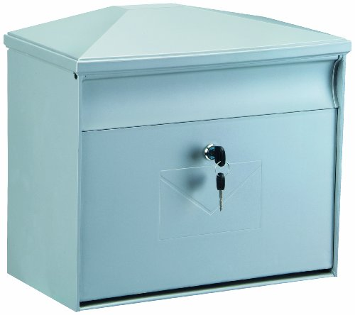 Rottner Kunststoff-Briefkasten Toronto, silber, T04559