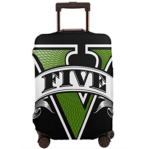 Luggage Cover GTA-V-Gr-and-Theft-Auto-5 Travel Suitcase Protector Zipper Suitcase Cover Washable Fashion Printing Luggage Cover Zipper Travel Suitcase Protector