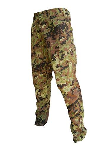 ALGI Pantaloni Militare da Combattimento Ripstop di Polyfilo Vegetato Mimetico (50)