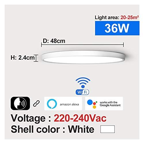 Sencillez Luz de techo inteligente LED moderno 36W 45W Wifi Tuya App Google Inicio Alexa Echo AI Control de voz Montaje de superficie Lámpara de techo para el pasillo de la sala de estar