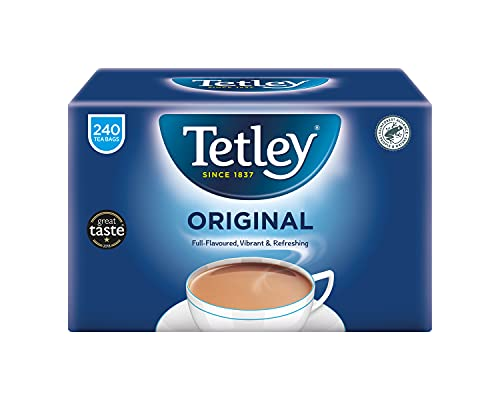 Tetley zwarte thee 240 zak. 750 g – originele Engelse versie