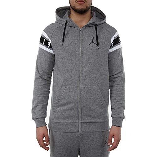 Nike Jordan Sudadera con capucha Full Zip Gris Jumpman Air