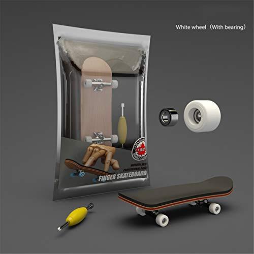 MiSha Fingerboard - Tabla con ruedas de madera, juguete para patinaje