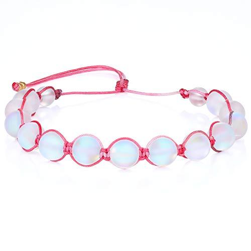 KANYEE Bracelets De Perles Lune Bracelet Rang Coloré Bracelets De Corde Faits à La Main pour Femmes – 23E