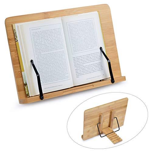 FOCCTS Soporte de Bambú Ajustables Ideal para Leer, Ver