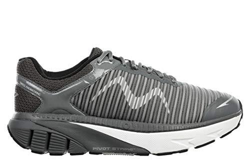 MBT GTR scarpe da corsa e scarpe da passeggio con fondo a dondolo massimo cuscino, grigio (Evelina), 43 EU