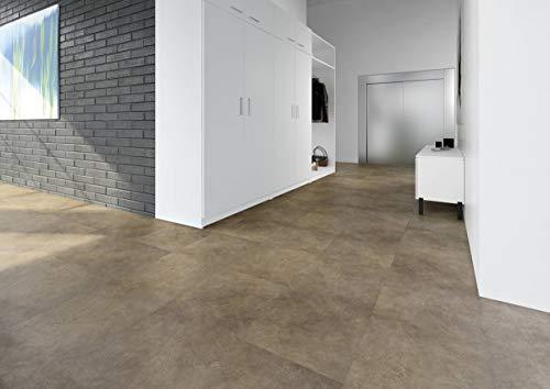 JOKA Classic Designböden330 2,0mm/NS 0.4mm Dryback 2868 Rustic.Brown Stone 45,72x91,44cm Paket 3,34 m² Vinylboden Klebevariante