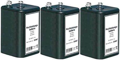 3x Blockbatterie Iec 4r25 6v 7ah Quecksilberfrei Elektronik